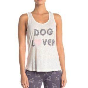PJ Salvage-White Rose Day Dog Lover Pajama Top